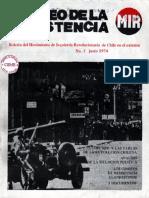 Correo de la Resistencia   MIR 01_junio_1974