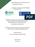 Tesis Hoja de Ruta Propuesta para la Ratificación y Puesta en Práctica del Convenio Multilateral Iberoamericano de la Seguridad Social. Caso República Dominicana.