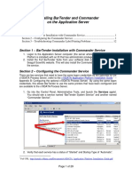 Installing BarTender Commander on Application Server
