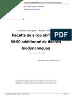 Recette de Sirop Stimulant 50 50 Additionn de Tisanes Biodynamiques a46