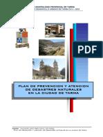 1 Pdu- Plan Prevencion y Atencion de Desastres Naturales de Tarma