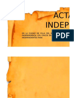 Act a Independencia