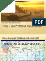 Tema 1 Las Primeras Civilizaciones