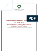 Hamas and the Terrorist Threat from the Gaza Strip. The Main Findings of the Goldstone Report Versus the Factual Findings