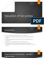 Unit 2 - Valuation of Securities