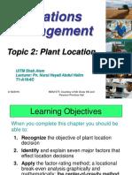 3.0-Topic 3 - Plant Location