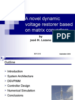 A novel dynamic voltage restorer based on matrix converters