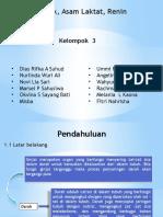 IDL amoniak, renin dan asam laktat