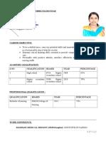 Anandhi Resume