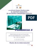 5 Ponencia] Protocolos de Actuacion Ante Enfermedad o Accidente