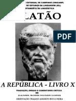 Lopes Daniel Rossi Nunes Platão a República - Livro X