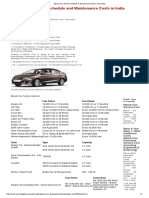 Ciaz Service Schedule & Maintenance