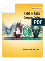 ANSYS for Tablet Computer Design - Greg Pitner