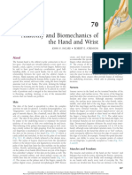 Anatomy and Biomechanics of Hand and Wrist