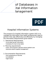 Role of Databases in Hospital Information Management
