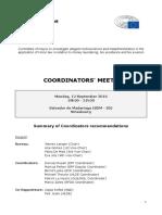 PANA Summary of Coordinators Recommendations_12 September 2016