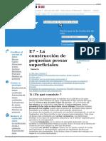 E7 - La Construcción de Pequeñas Presas Superficiales - Wiki