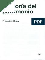 Alegoria del patrimonio - F. Choay