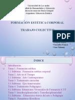 Diapositivas de Exposicion Colectiva de Educacion  Estetica
