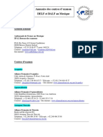 Annuaire Des Centres d Examen Delf-dalf Au Mexique2015