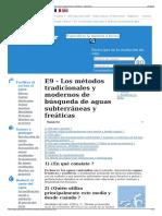 E9 - Los Métodos Tradicionales y Modernos de Búsqueda de Agu