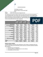 SPD Budget Overview