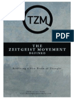 The Zeitgeist Movement Defined