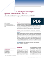Alternatives à La Chirurgie Bariatrique 2015