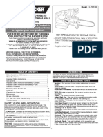 Black and Decker Chainsaw Manual
