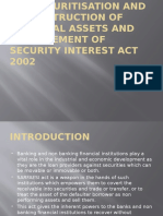 The Securitisation and Reconstruction of Financial Assets And Security Interest