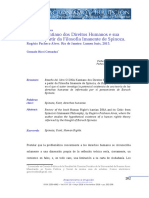 Gonzalo Ricci Cernadas - Reseña bibliográfica O DNA Kantiano dos Direitos Humanos e sua Crítica a partir da Filosofia Imanente de Spinoza.