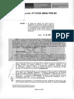 Resolución del Tribunal del OSCE 1723-2016 (Documentación Inexacta)