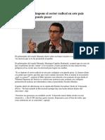 Caprile Si Se Impone El Sector Radical en Este País Cualquier Cosa Puede Pasar