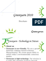 Greenyarn Brochure 2010 - 2011