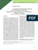 Perspectivas de un Sistema de Telemedicina en la Salud Pública del Paraguay. Estudio Piloto