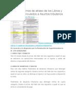 Plazos Maximos de Atraso de Los Libros y Registros Vinculados a Asuntos Tributarios