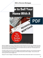 How to Sell Real Estate With a Reverse Mortgage