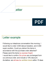 Letter of Order 2