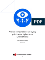 Análisis comparado de las leyes y prácticas de vigilancia en Latinoamérica