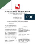 Determinacion Del Peso Especifico de Una Sustancia Desconocida2 Reparado (1)