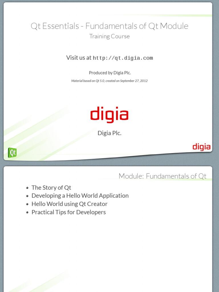 01 - Qt Essentials - Fundamentals of Qt Module | Cross
