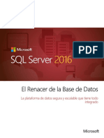 SQL 2016 Unsolicited Proposal Spanish