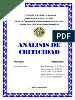 Analisis de Criticidad-gerencia de Mantto1
