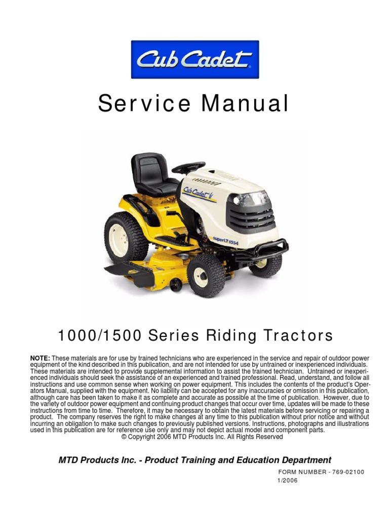Cub Cadet 1000_1500 Service Manual | Transmission (Mechanics) | Belt  (Mechanical)