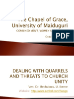 Dealing with Conflics and Threats to Church Unity