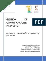 Gestión Comunicaciones proyecto