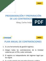 Programacion y preparacion de las contrataciones