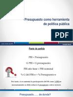 Presupuesto como herramienta de política pública