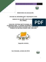 Guia Descripcion de Archivo Mined 2015