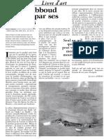 L'Orient litteraire, presentation de Shafic Abboud par Jacques Aswad